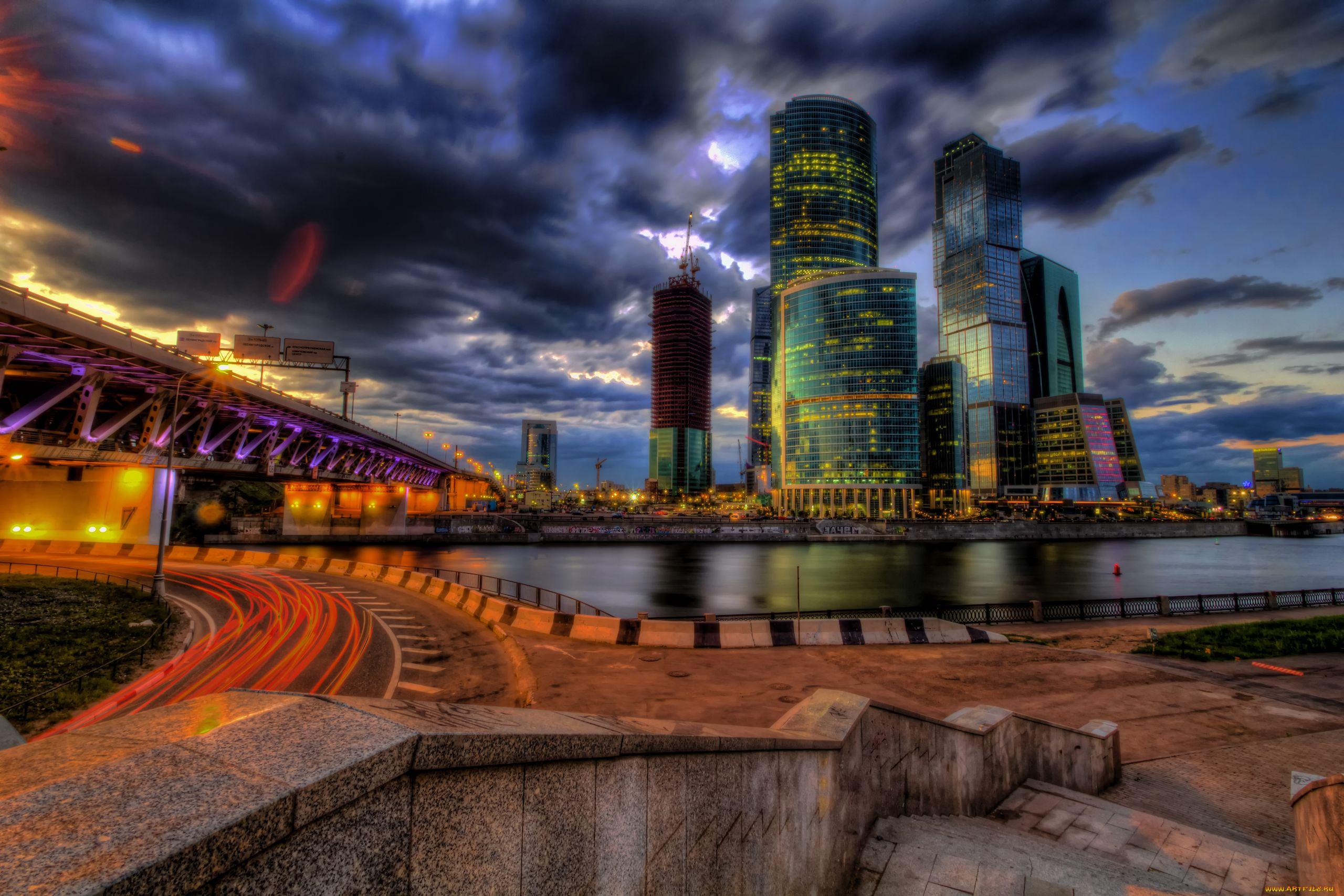 Сити города россия мост москва сити